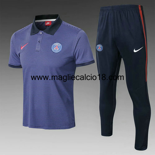 maglia Polo paris saint germain 2018-2019 Blu reale