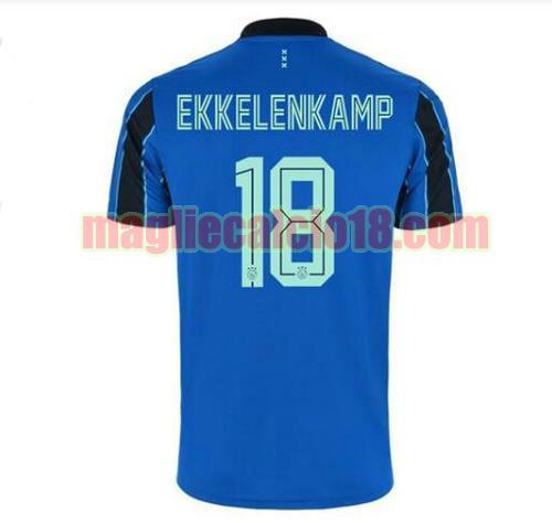 maglia afc ajax 2021-2022 seconda jurgen ekkelenkamp 18