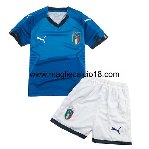 prima maglia italia bambino 2017-2018