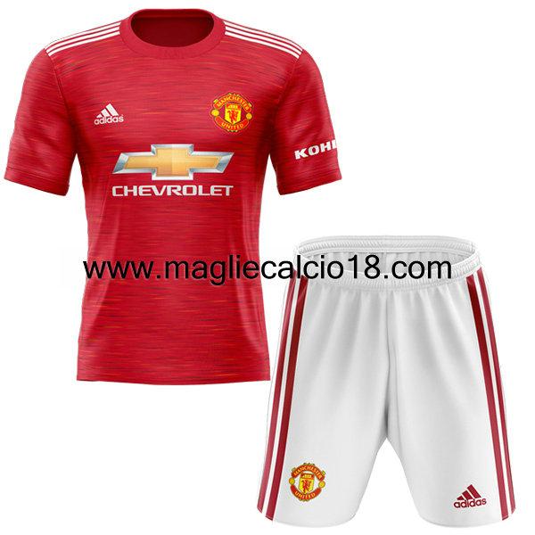 prima divisa maglia manchester united bambino 2020 2021 prima divisa maglia manchester united