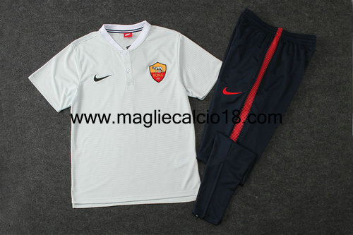 sweatsuit Polo As Roma 2017-2018 bianco